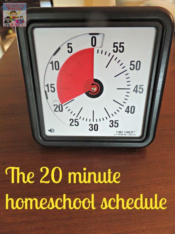 20 minute homeschool schedule