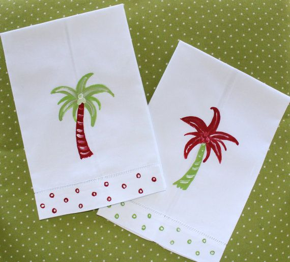 Nautical Guest Towels: + DIY Beachy Home Decor + Coastal Christmas Guest Towels