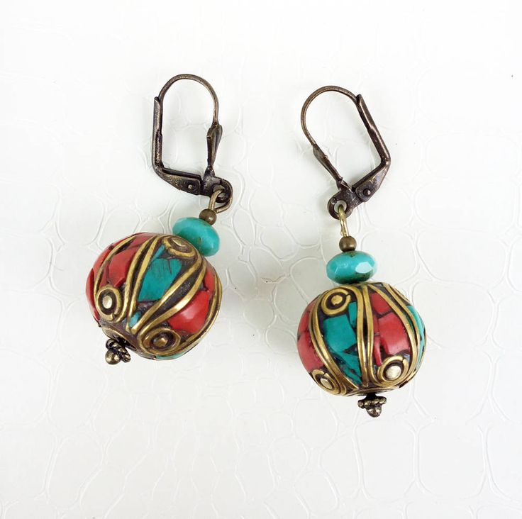 Berber beads earrings by MercysFancy on Etsy
