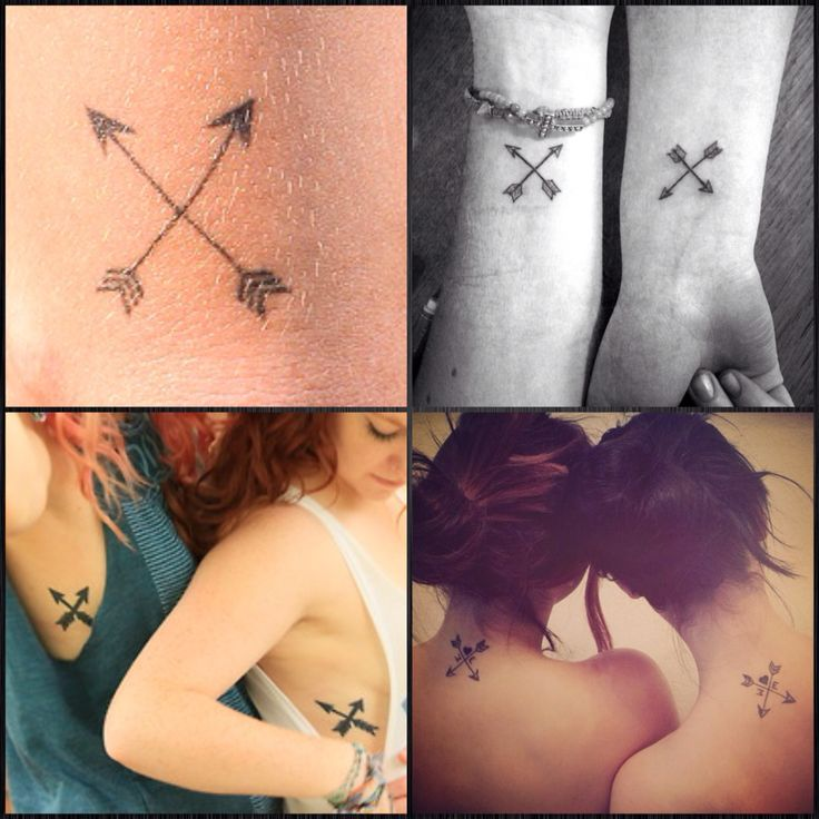 BFF tattoo | crossed arrows means friendship
