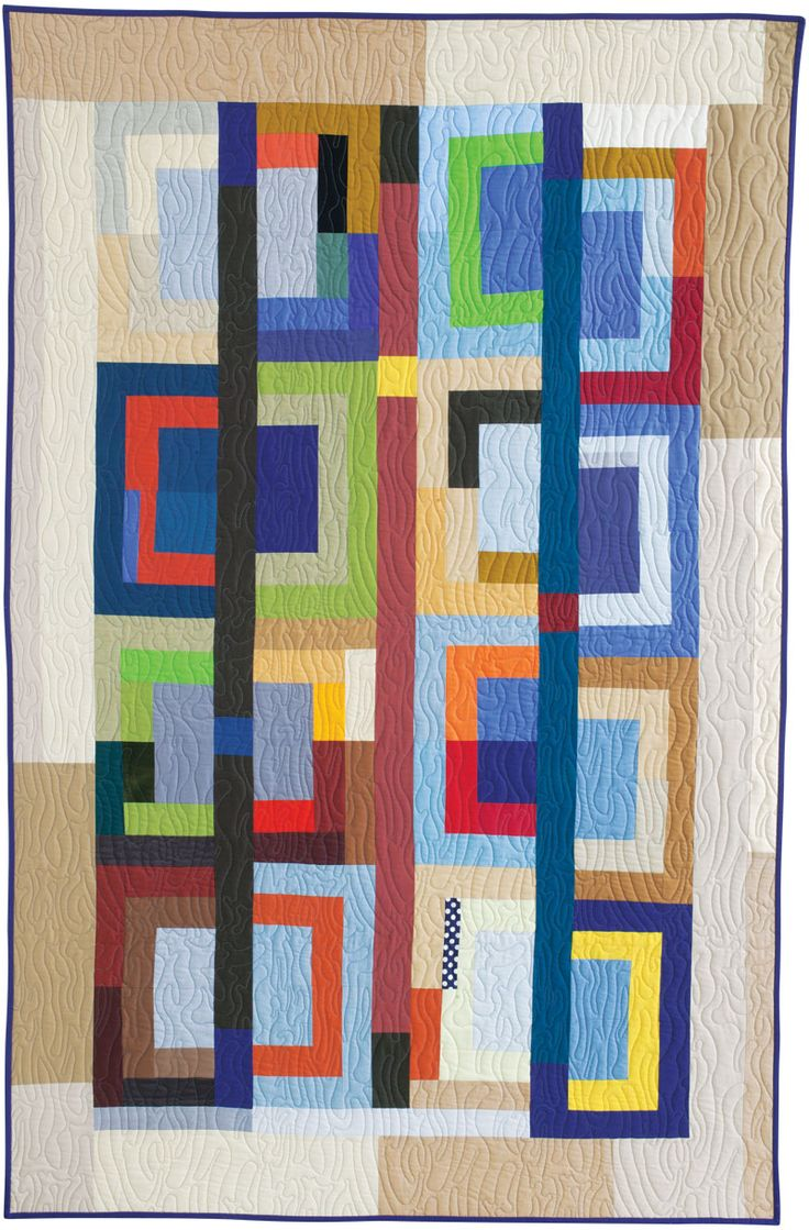 Free Quilt Pattern: One-Corner Log Cabin by Pam Rocco from Quilters Newsletter February/March 2016