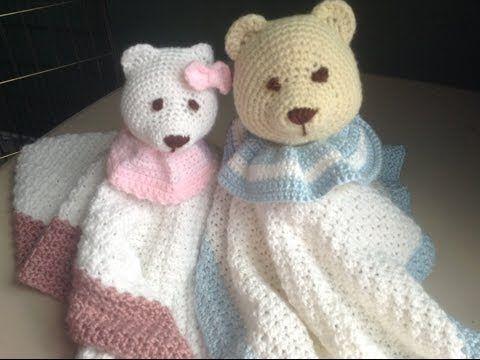 ▶ How to Crochet a Baby Blanket Stuffed Animal - Lovey Blanket - YouTube
