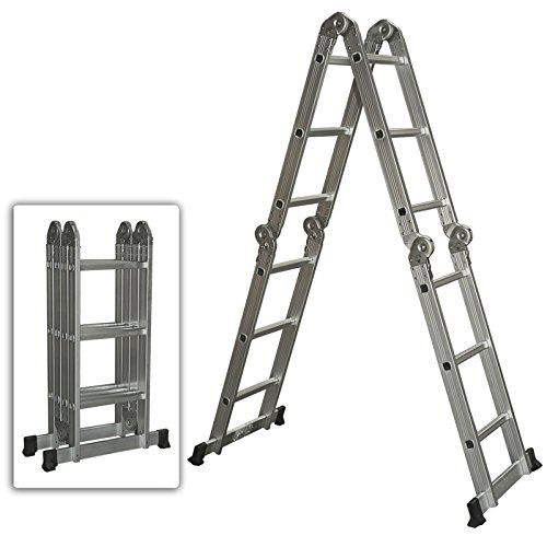 GREAT MULTI PURPOSE ALUMINIUM LADDER FOR GETTING ALL TYPES OF TASKS DONE AROUND THE HOUSE AND WORK SITES LIGHT-WEIGHT AND EASY TO STORE