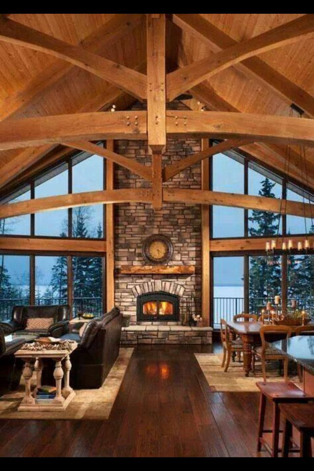 32 best Gorgeous Timber Frame & Log Homes images on Pinterest ... Log Home Designs Open Kitchen Living Area on open living dining space, luxurious open house designs, open space home designs, open floor plan house designs, space room designs, open kitchen living dining room designs,