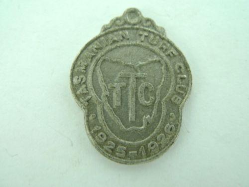 SUPER-SUPER-RARE-1925-1926-TASMANIAN-TURF-CLUB-MEMBERS-BADGE