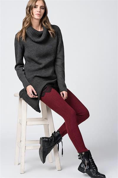 BALIK SIRTI DESENLİ FERMUARLI PANTOLON Detaylar www.fashionturca.com da