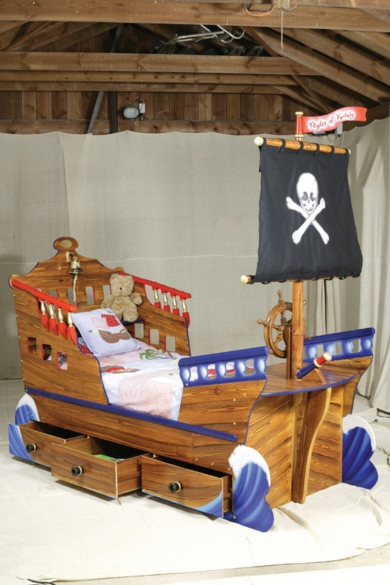 Cute Toddler Bed For A Little Boy Pirate Ship Bed