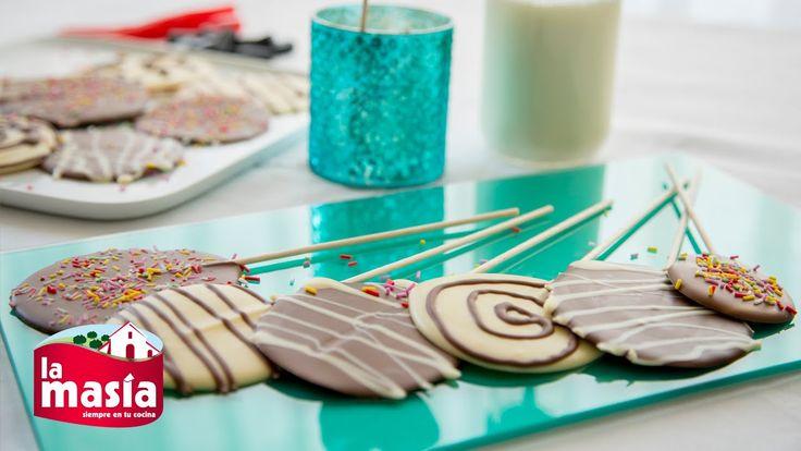 ¿Tienes a la vista un cumpleaños o celebración? No pierdas ojo a estas #Piruletas de #chocolate. ¡Una receta fácil, diferente y divertida!