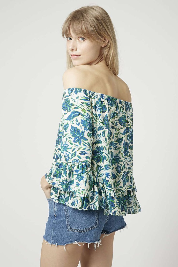 Photo 4 of Floral Bardot Top