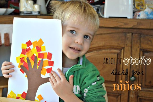 Árbol de otoño hecho por niños | Elenarte