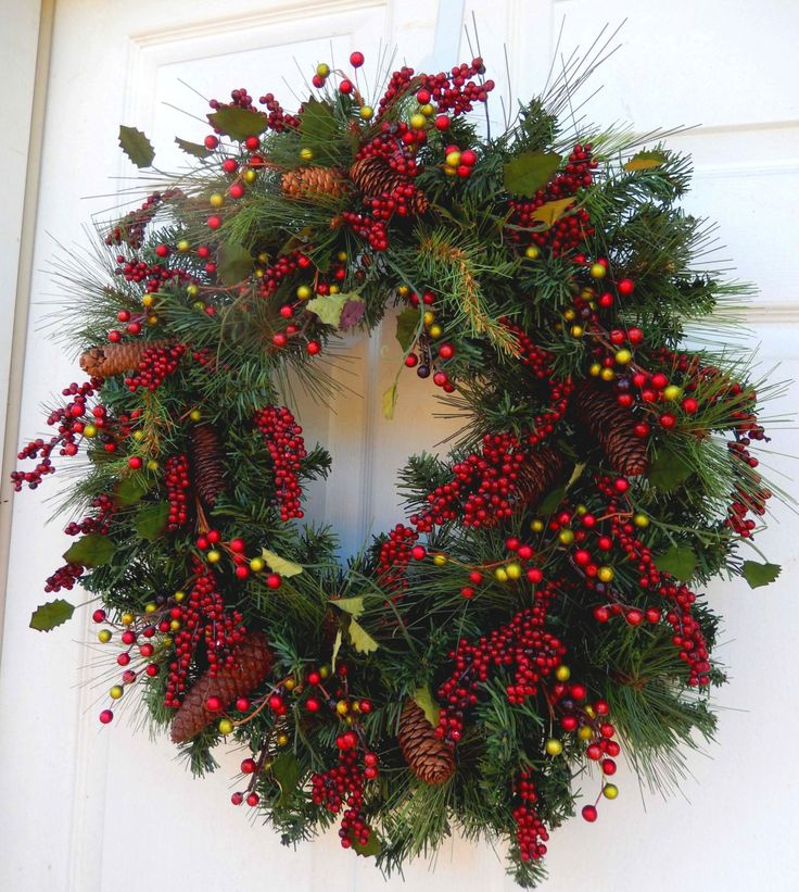 Christmas Wreath Winter Wreath Christmas Wreath от forevermore1
