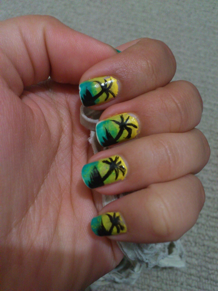 Fiji nails! - Done by a friend for me :)