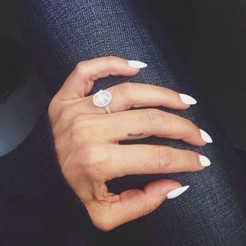 17 Best Images About Nail Polish And Engagement Rings! On