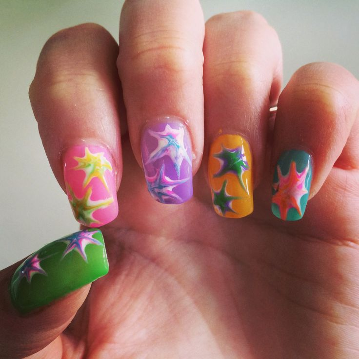 Party sommernegle med gelé lavet af Pretty Nails, Randers.