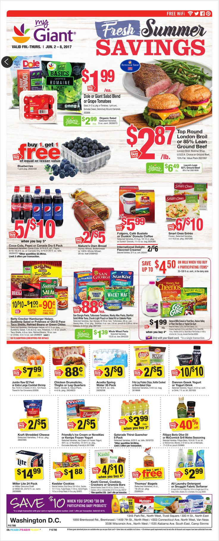 Giant Food Weekly Ad June 2 - 8, 2017 - http://www.olcatalog.com/grocery/giant-food-weekly-ad.html