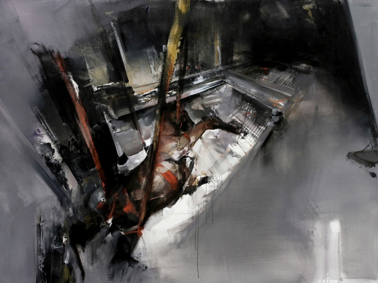 """Zsolt Bodoni - """"Circus"""", 2010, oil and acrylic and canvas, 195 X 190 cm"""