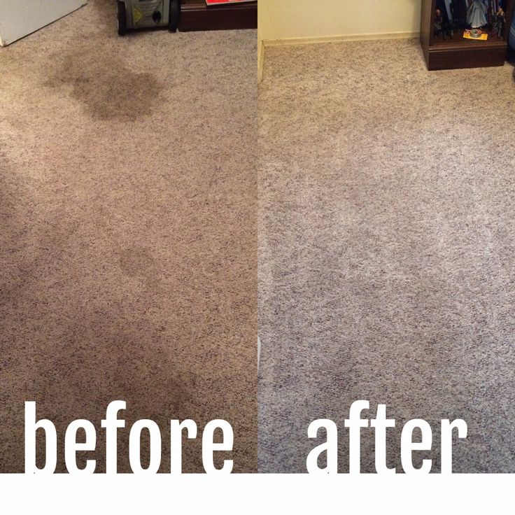 Before And After Using Norwex Upp To Clean My Carpets To