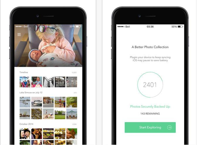 The free resolution is 10.6 megapixels, which means that many iPhone 6 and up photos will be compressed. To upload the photo's original quality, the pro version costs $5/month.