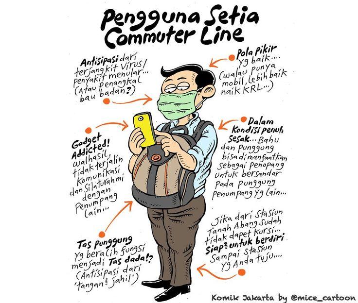 Mice Cartoon, Komik Jakarta, Agustus 2015: Pengguna Setia Commuter Line