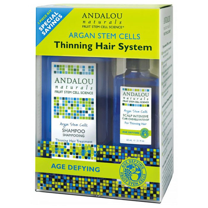 Andalou Argan Stem Cells Age Defying Thinning Hair System