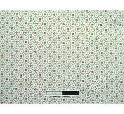 Bavlněné látky - bavlněná látka 301 růžové kytičky