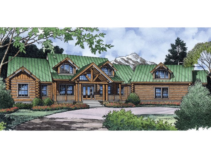 eplans log houses house plan rustic refinement 3882 square feet and 4 bedrooms from eplans house plan code
