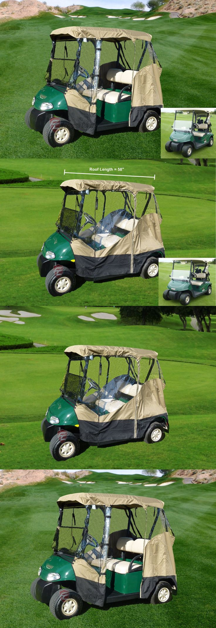Other Golf Accessories 1514: 3 Sided Drivable Golf Cart 2 Seater Enclosure Fit E Z Go, Club Car Yamaha G Mode -> BUY IT NOW ONLY: $59.99 on eBay!