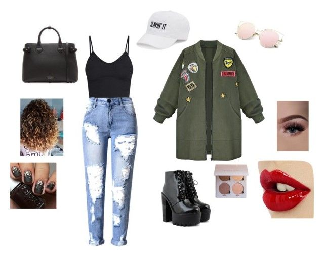 """Untitled #13"" by gabygabi07 on Polyvore featuring WithChic, Burberry and SO"
