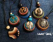 fimo necklace handmade
