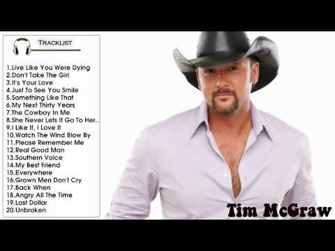 Best Songs Of  Tim McGraw (Full Songs HD)    Tim McGraw's Greatest Hits