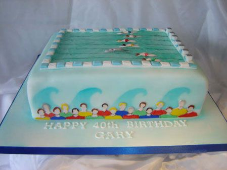 Swimming Pool Birthday Cake Ideas Cakepins.com
