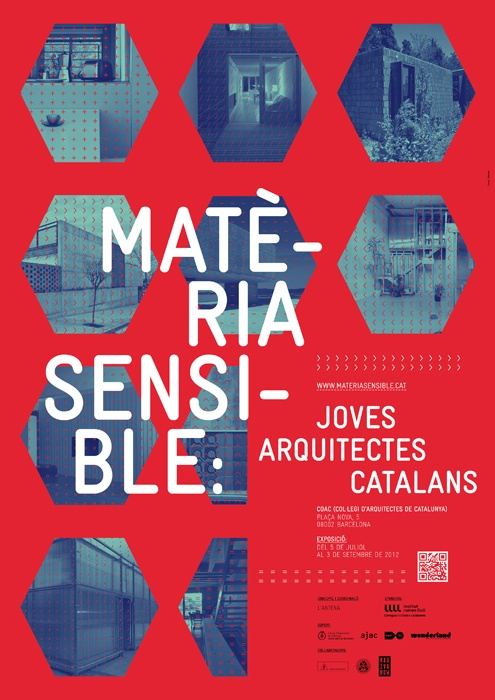 Matèria Sensible exhibition posters by toormix