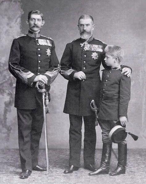 Three successive kings ofRomania