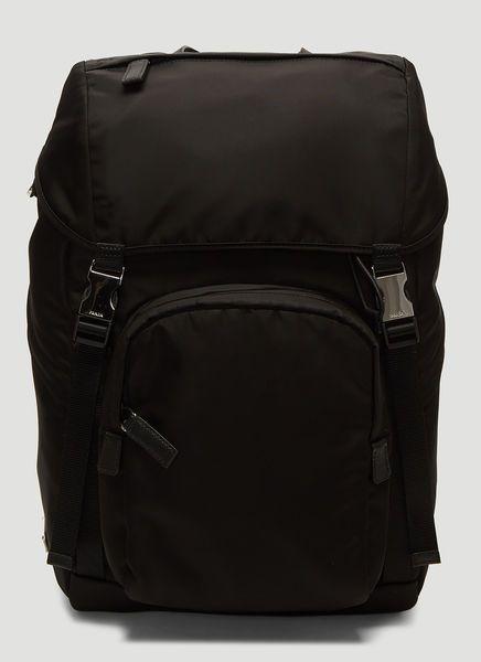 dfa4a8da1519 PRADA TECHNICAL FABRIC BACKPACK IN BLACK. #prada #bags #leather #nylon # backpacks
