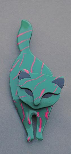 LEA STEIN ATILLA CAT BROOCH