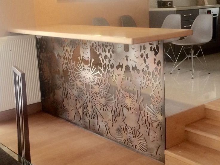 Metal laser cut bar table