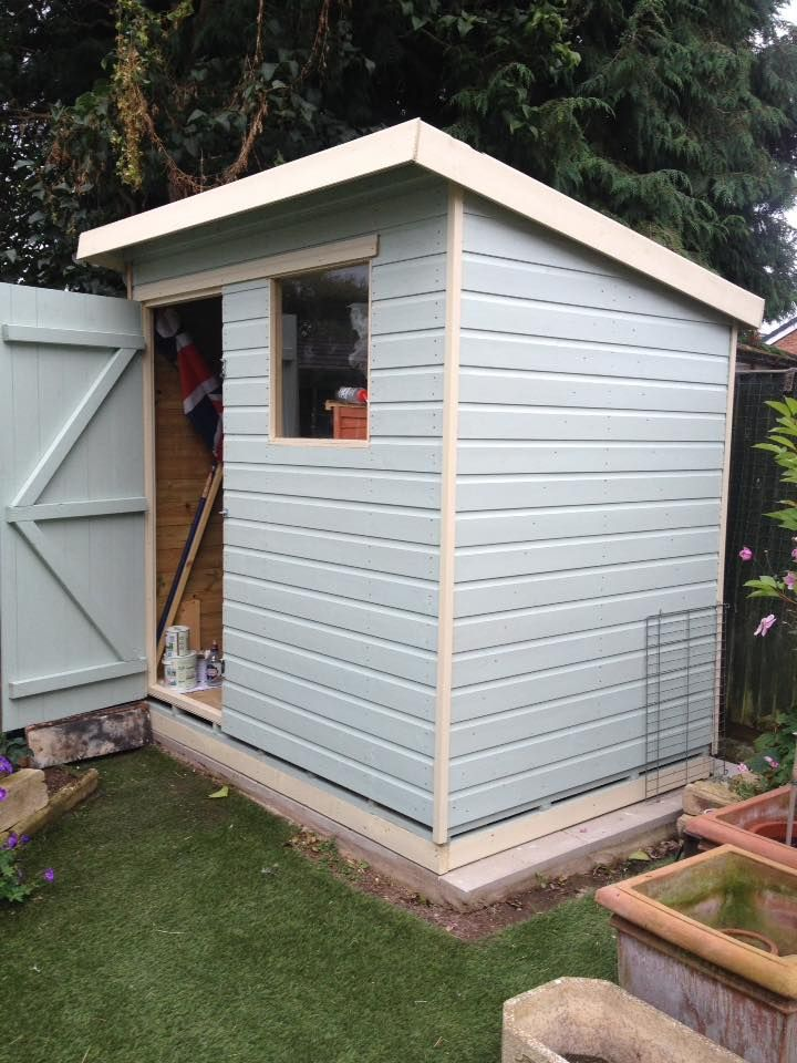 Pent shed supplied and fitted by Solid Sheds