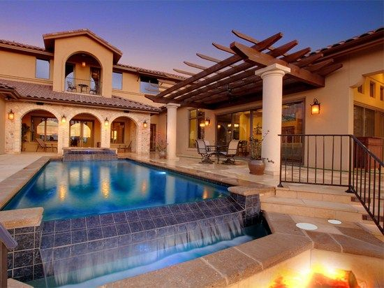 Outdoor home pool  65 best Our Pools images on Pinterest | Central texas, Infinity ...