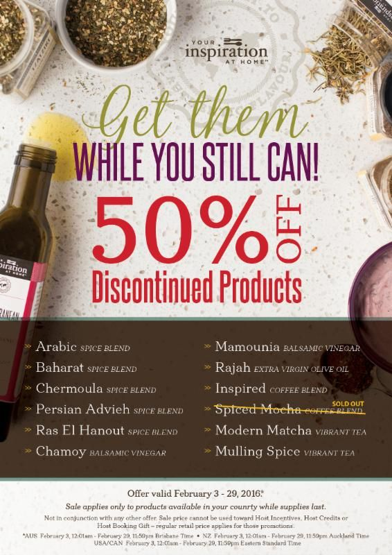 Stock up on these items before Feb 29 or before they sell out!! http://kyacoubjohnson.yourinspirationathome.com.au