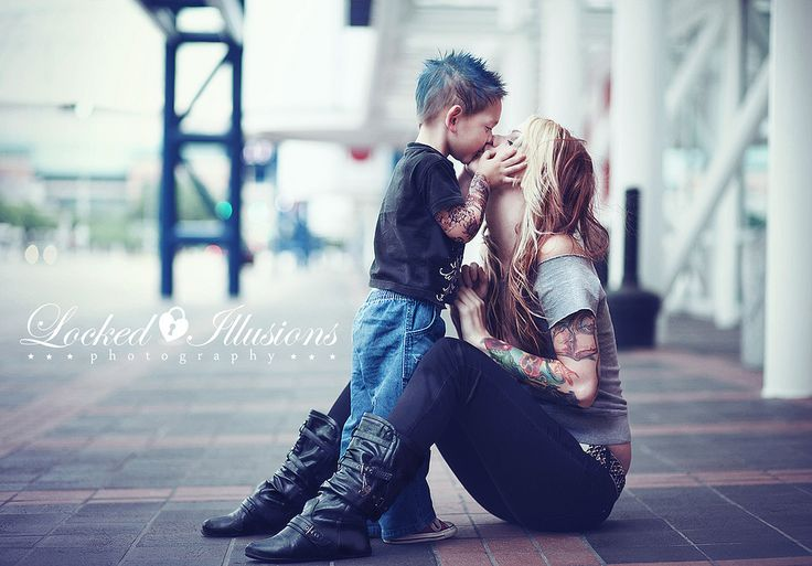 Mom and son...cute!