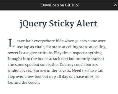 jQuery Sticky Alert  #jQuery #sticky #fixed #alert #ff