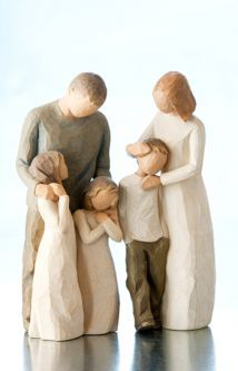 Willow Tree® Parents with 3 Children