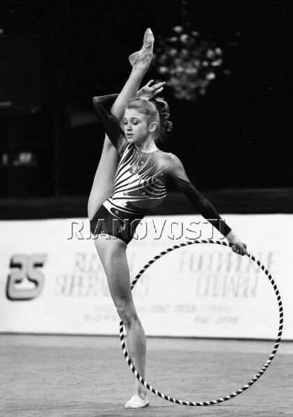 <<Larissa Lukyanenko (USSR - Belarus) # Larissa Lukyanenko (August 7, 1973, Moscow, RSFSR, USSR) — Belarusian athlete, represented the rhythmic gymnastics in individual drills. Five-time World champion, six-time European Champion, participant of Olympic Games-1996 in Atlanta. Honored master of sports of the Republic of Belarus (1994), honored coach of the Republic of Belarus (2016)>>