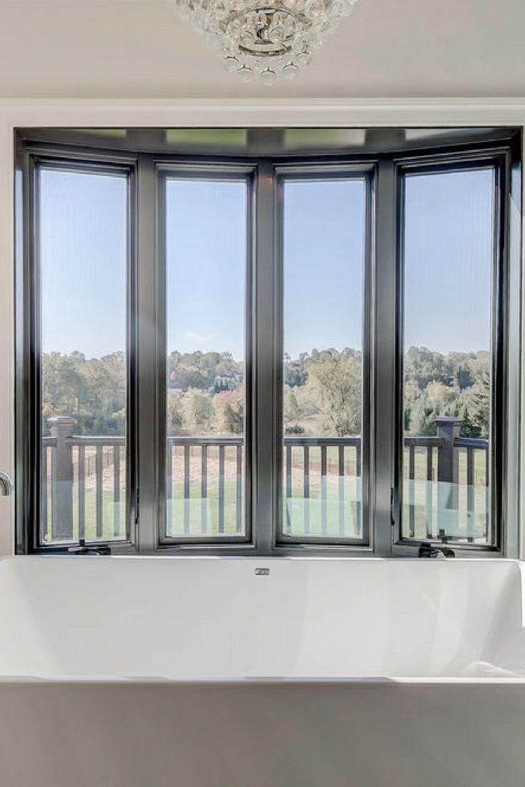 Wood window black interior finish design ideas