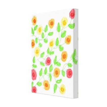 Flowered Wall Art With Reds And Orange  $124.05  by AbracadabraStyle  - cyo customize personalize unique diy idea