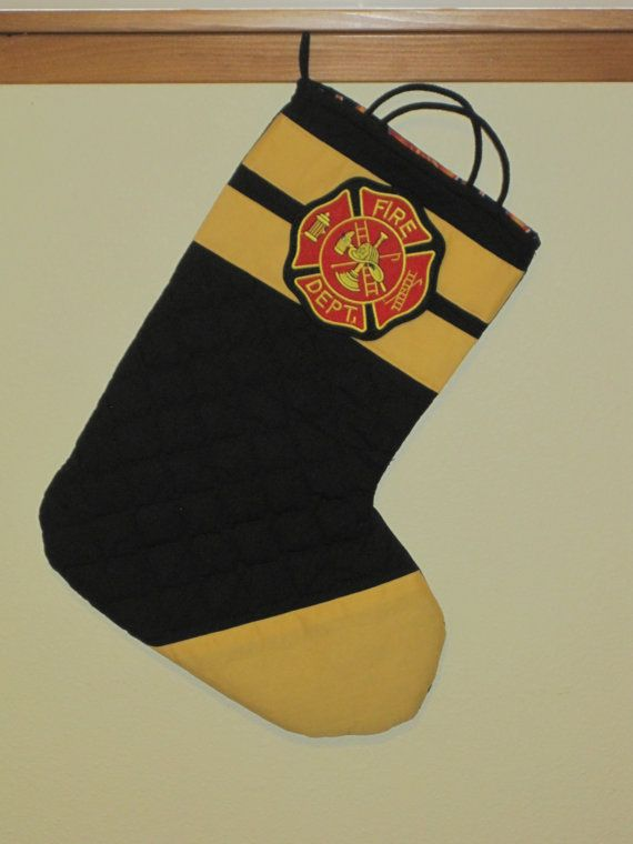 Fireman Stocking On Etsy Firefighters Pinterest