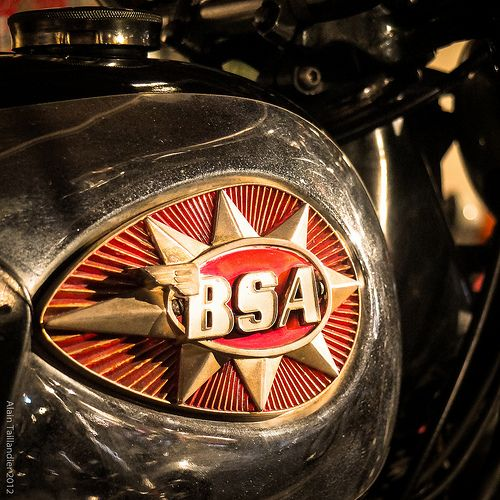 Vintage BSA Motorcycle Fuel Tank Badge