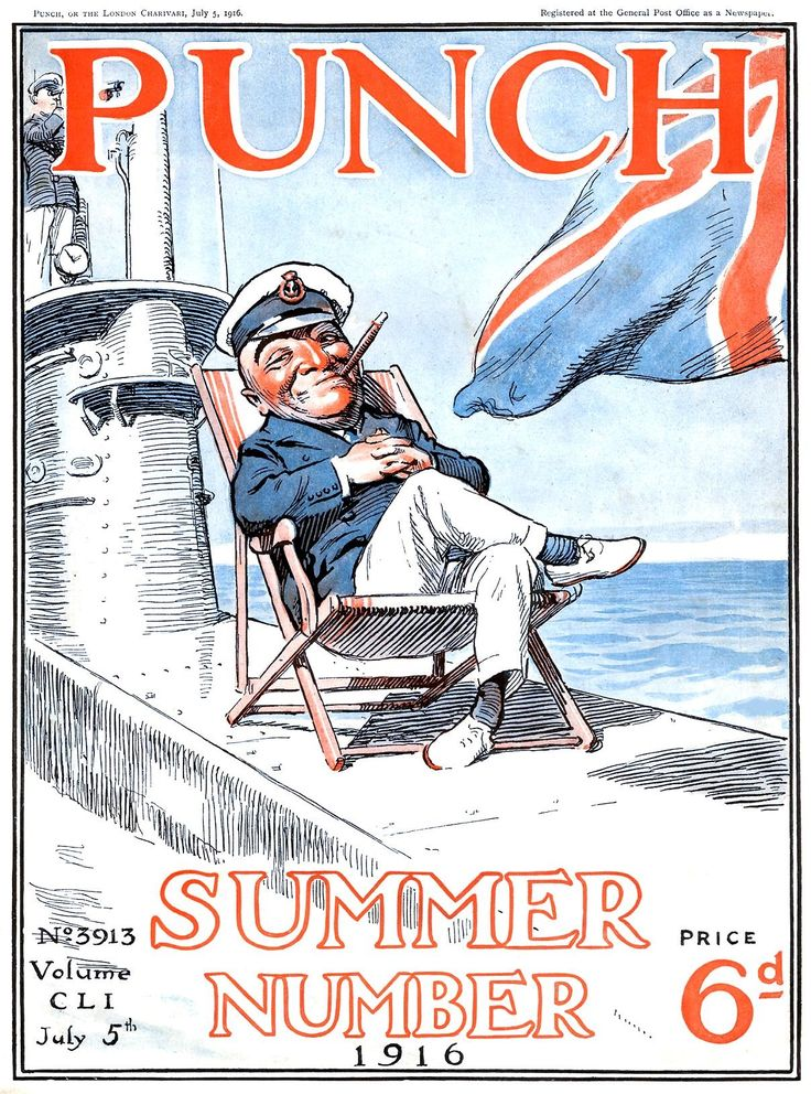 1916. Punch Magazine front cover.