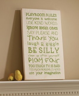 For the basement playroom