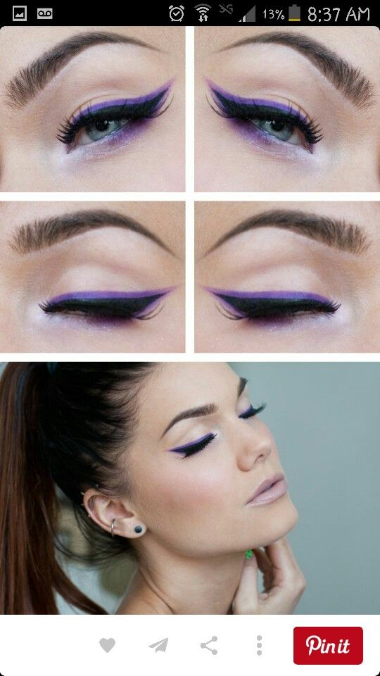 Purple liner look